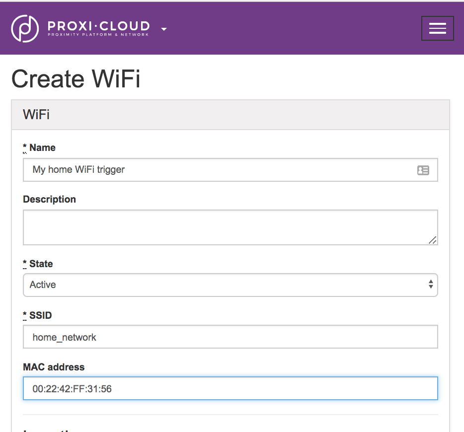 proxi cloud : Using triggers